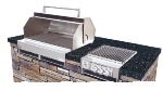 Big Johns Grills & Rotisseries A3TS-LPCI Built-In Grill w/ 6-Burner, Cast Iron Grates, LP