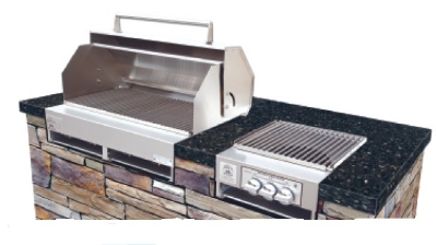 Big Johns Grills & Rotisseries A4TS-LPCI Built-In Grill w/ 8-Burner, Cast Iron Grates, LP