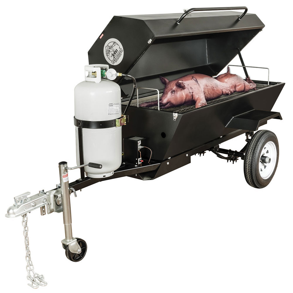 Big Johns Grills & Rotisseries E-Z WAY Towable Propane Roaster Smoker