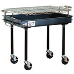 Big Johns Grills & Rotisseries M-13B 2 x 3-ft Grill w/ Screw-In Legs, 4-in Casters, Black