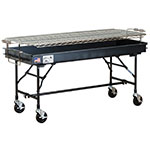 "Big Johns Grills & Rotisseries M-15FB 2 x 5-ft Grill w/ Folding Legs, 5"" Casters, Black"