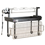 "Big Johns Grills & Rotisseries M-250B 60"" Mobile Charcoal Commercial Outdoor Grill w/ Rotisserie"