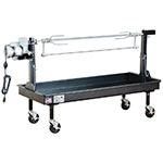 Big Johns Grills & Rotisseries M-35B 2 x 5-ft Lowboy Firebox & Rotisserie, Black