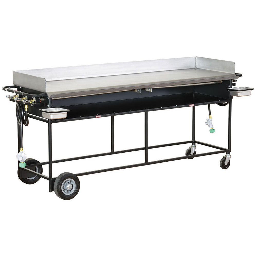 Big Johns Grills & Rotisseries PG-72S 20 x 72-in Griddle w/ Stand