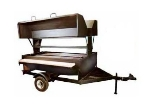 "Big Johns Grills & Rotisseries 7DDG 80"" Towable Charcoal/Wood Commercial Outdoor Grill"