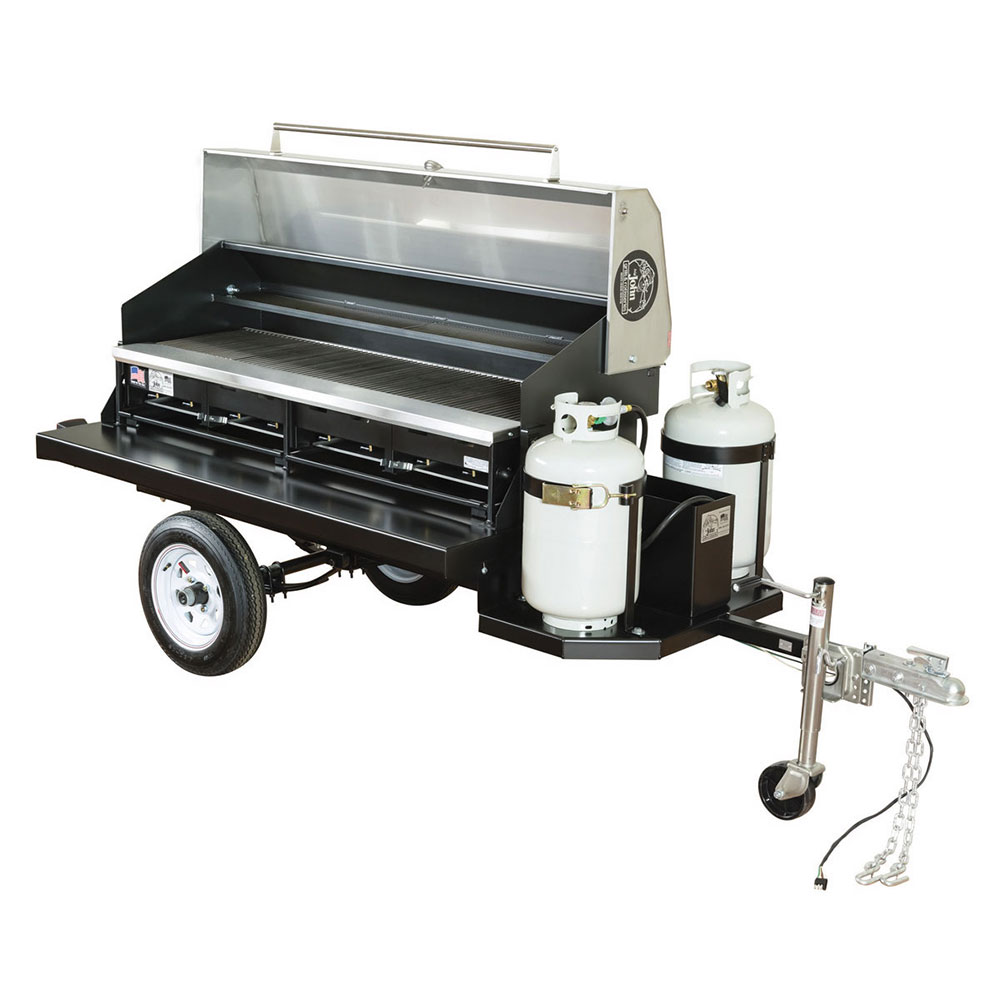 Big Johns Grills & Rotisseries TRAIL BOSS I 6-ft Single Door Towable Grill w/ LP Tanks