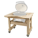 Primo Grills PRM605 Cypress Table For Oval Junior, 39 x 25 x 32-in
