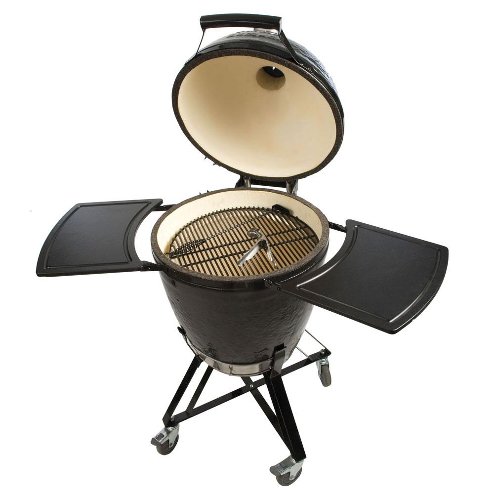 Primo PRM773 Kamado w/ Metal Base, Side Tables, Ash Tool & Grill Lifter