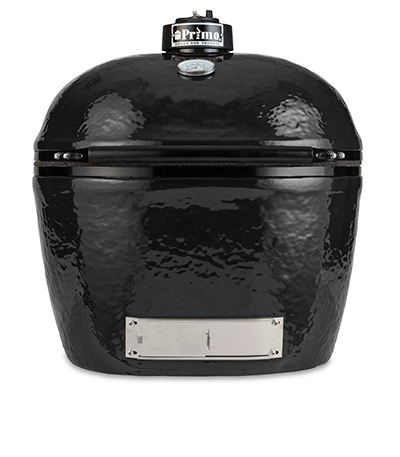 Primo Grills PRM778 Oval XL Grill w/ 400-sq/in Expandable Cooking Surface, Black
