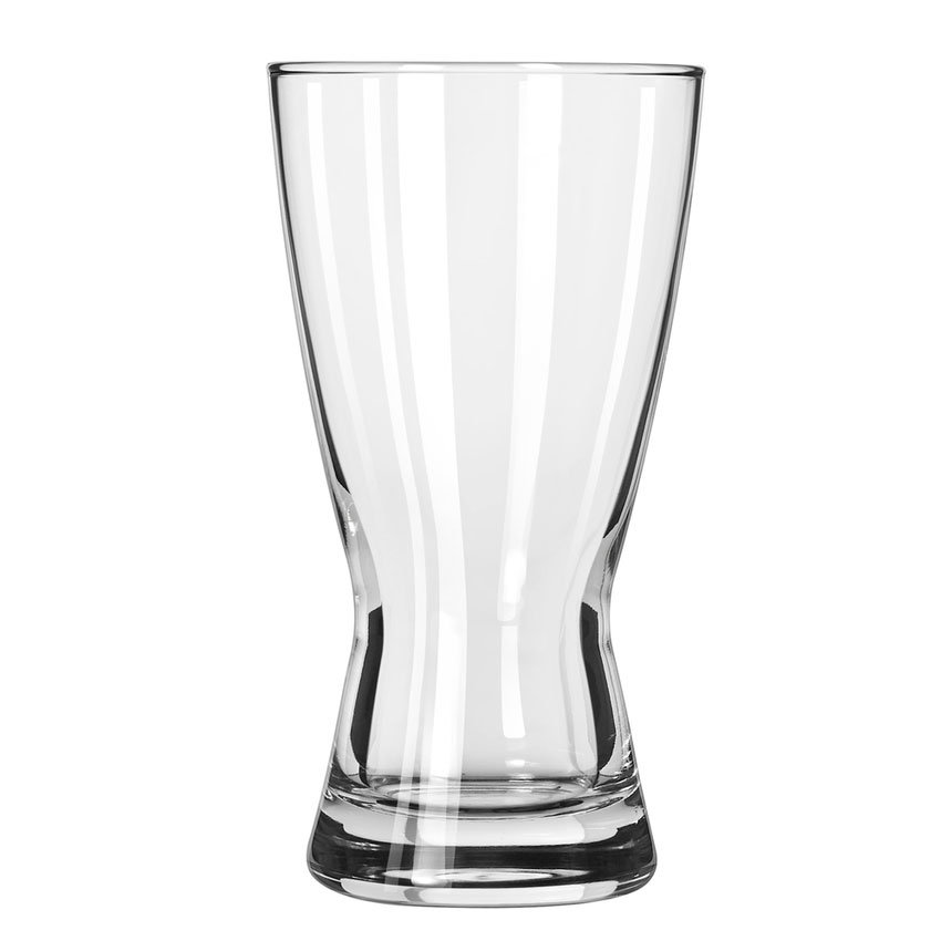 Libbey 1181HT 12-oz Hourglass Design Pilsner Glass - Safedge Rim