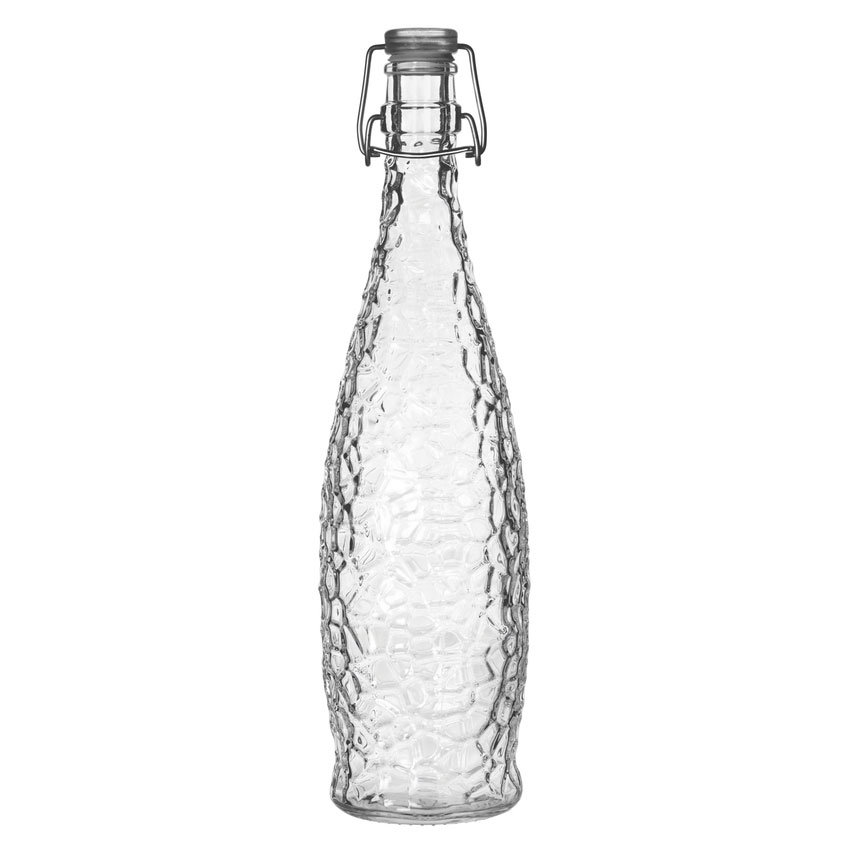Libbey Glass 13150120 33-7/8-oz Glacier Bottle with Clamp Top