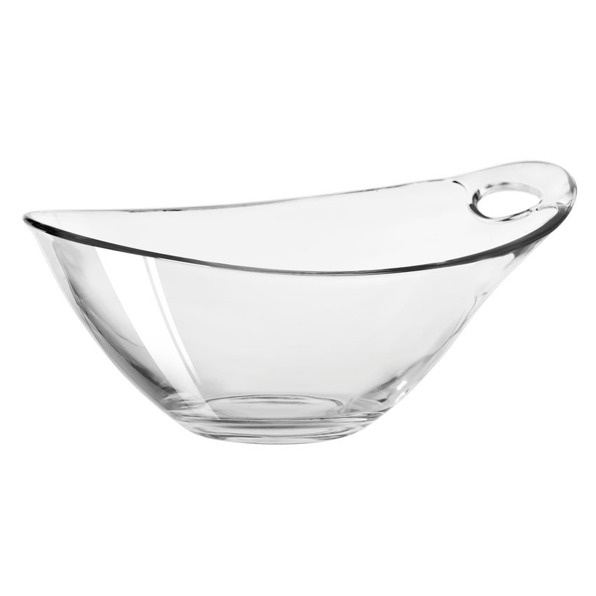 Libbey Glass 14065520 29-1/2-oz Practica Bowl Oval - Handle, Clear