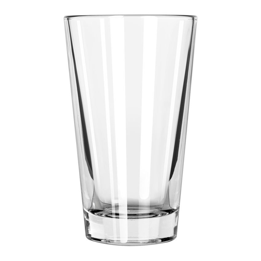 Libbey 15141 14-oz Pint Glass / Cooler Mixing Glass - DuraTuff Treated