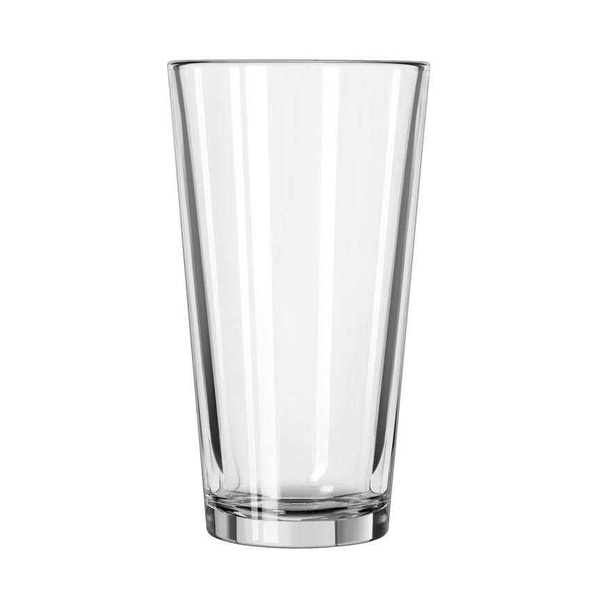 Libbey 15385/69292 16-oz Fizzazz Tall Plain Laser Etched Mixing Glass