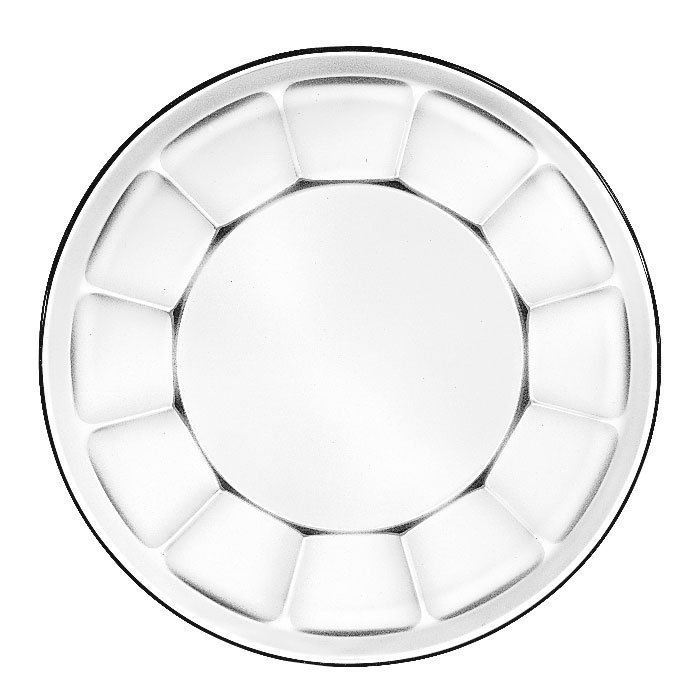 Libbey 15412 17.75-oz Gibraltar Glass Soup Deep Salad Plate