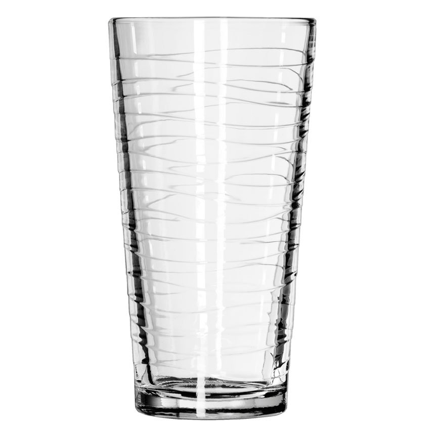 Libbey 15646 20-oz DuraTuff Wave Design Casual Cooler Glass