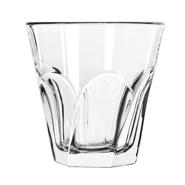 Libbey Glass 15757 7-oz DuraTuff Gibraltar Twist Rocks Glass - Clear