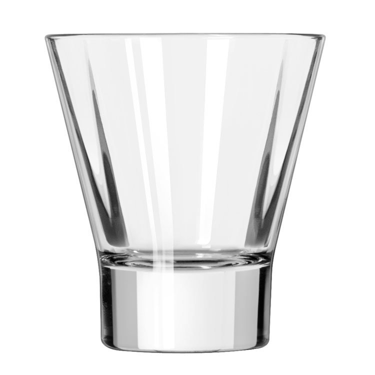 Libbey 15822 11-oz DuraTuff Quadra V Heavy Sham Flare Rocks Glass, Square Shape