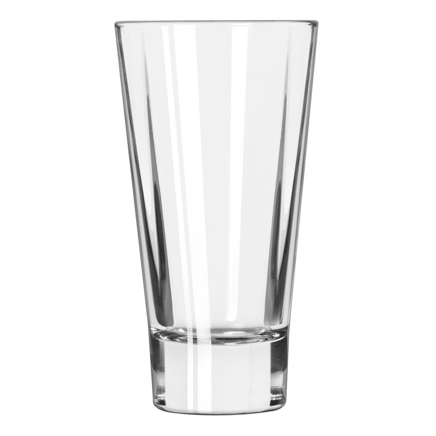 Libbey 15824 12-oz DuraTuff Quadra V Heavy Sham Flare Beverage Glass, Square Shape