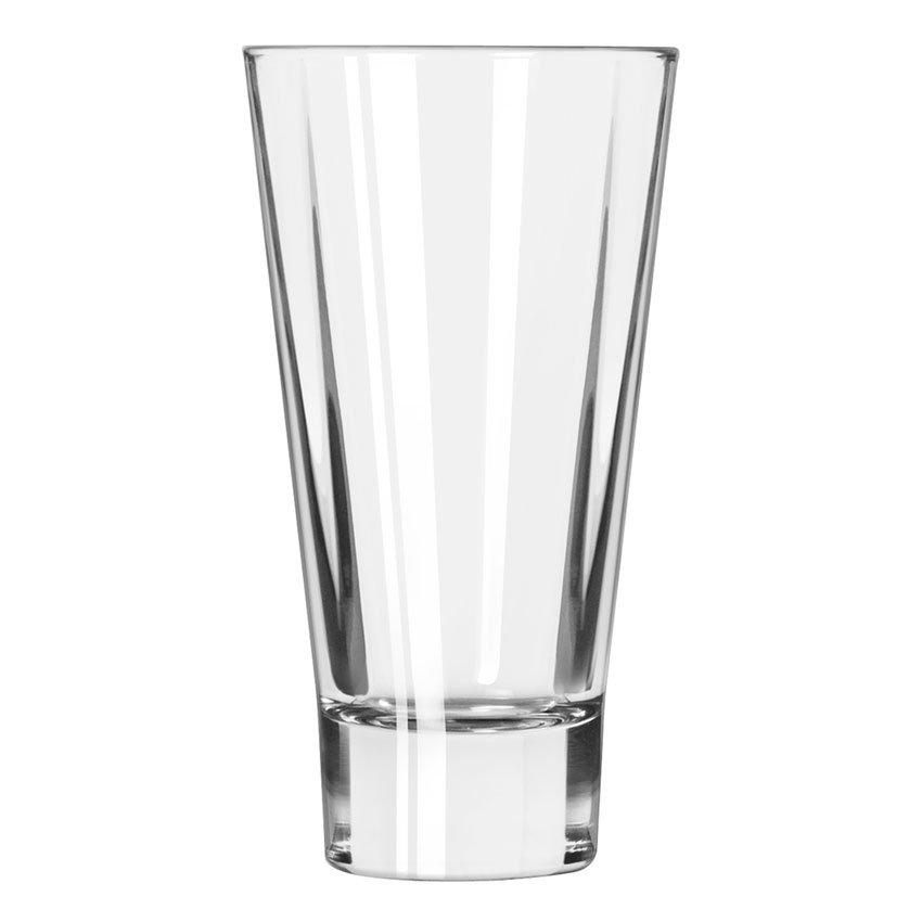 Libbey 15825 14-oz DuraTuff Quadra V Heavy Sham Flare Beverage Glass, Square Shape
