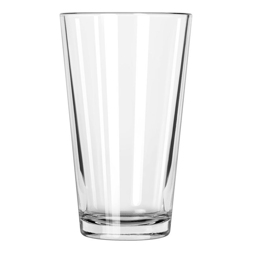 Libbey 1639HT 16-oz Pint Glass / Mixing Glass - DuraTuff Treated