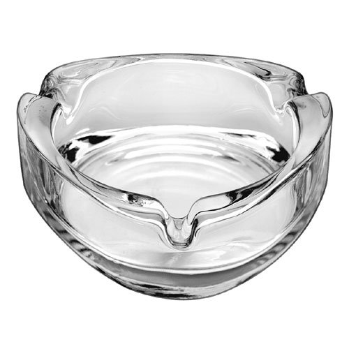 "Libbey 1709020 3"" Triangle Glass Ash Tray"