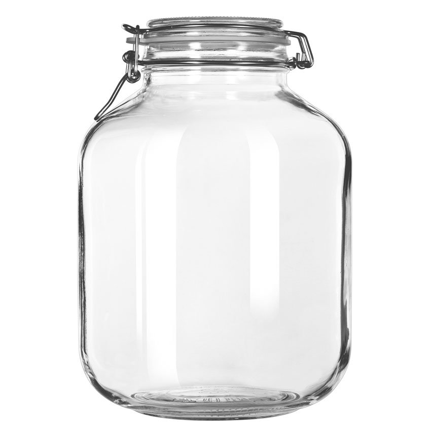 Libbey 17214624 143.75-oz Glass Infusion Jar - Clamp Lid, Rubber Seal