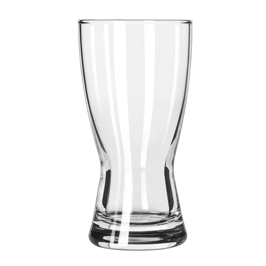 Libbey 176 9-oz Hourglass Design Pilsner Glass - Safedge Rim Guarantee