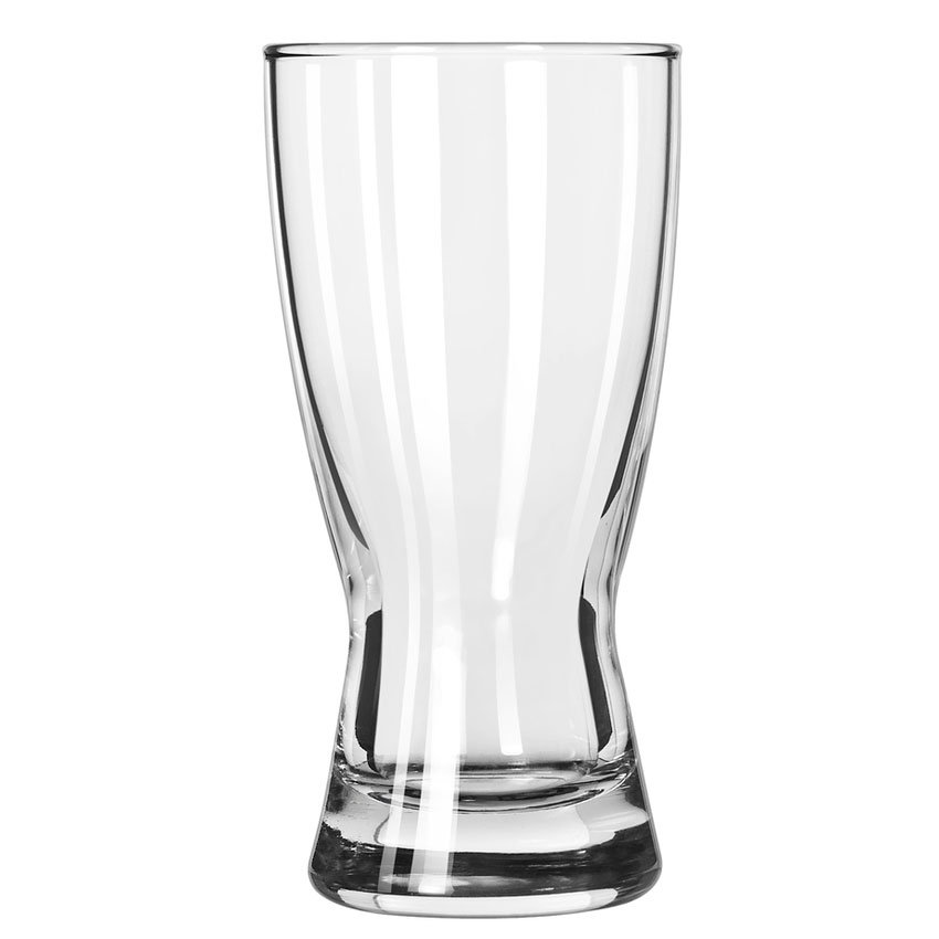 Libbey 178 10-oz Hourglass Design Pilsner Glass - Safedge Rim Guarantee