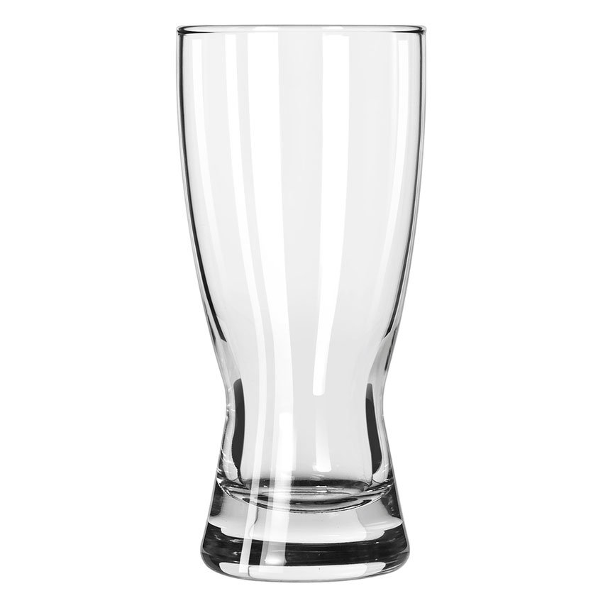 Libbey 179 11-oz Hourglass Design Pilsner Glass - Safedge Rim Guarantee