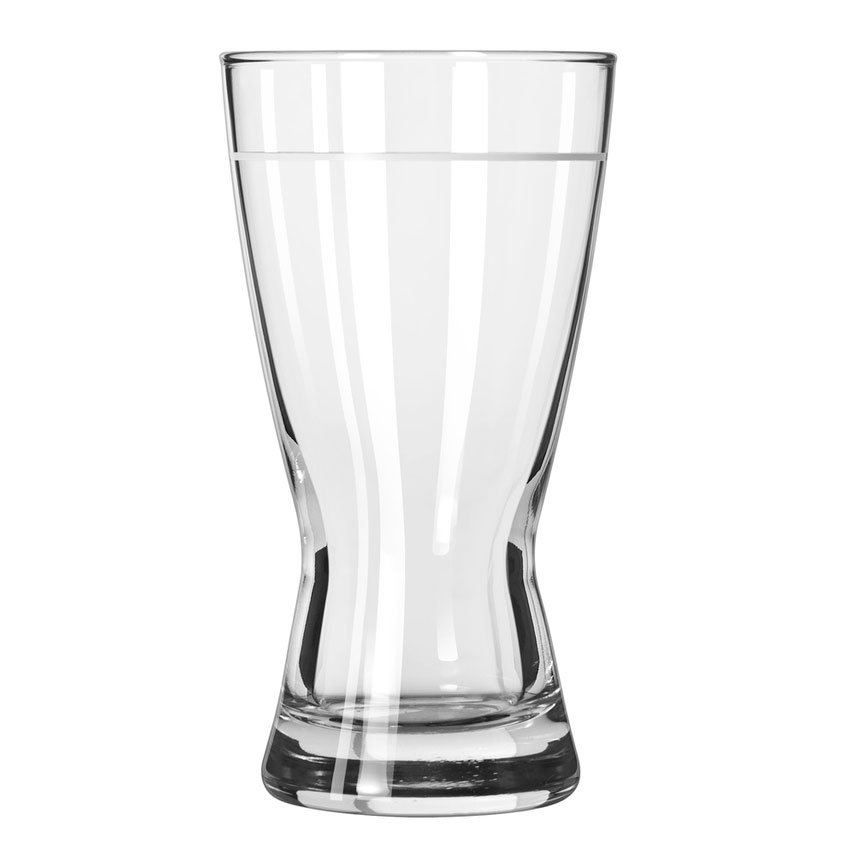 Libbey 181/1605G 12-oz Hourglass Design Lined Pilsner Glass - Safedge Rim