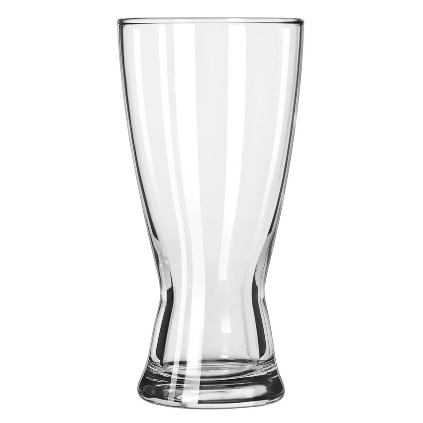 Libbey 183 15-oz Hourglass Design Pilsner Glass - Safedge Rim Guarantee