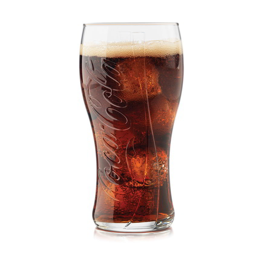 Libbey Glass 2117S6 16.5-oz Coca-Cola Curved Tumbler