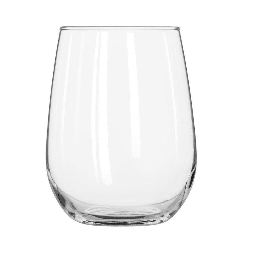 Libbey 221 17-oz Stemless White Wine Glass