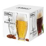 Libbey 2233S4 Football Tumbler Set w/ 4-Glasses