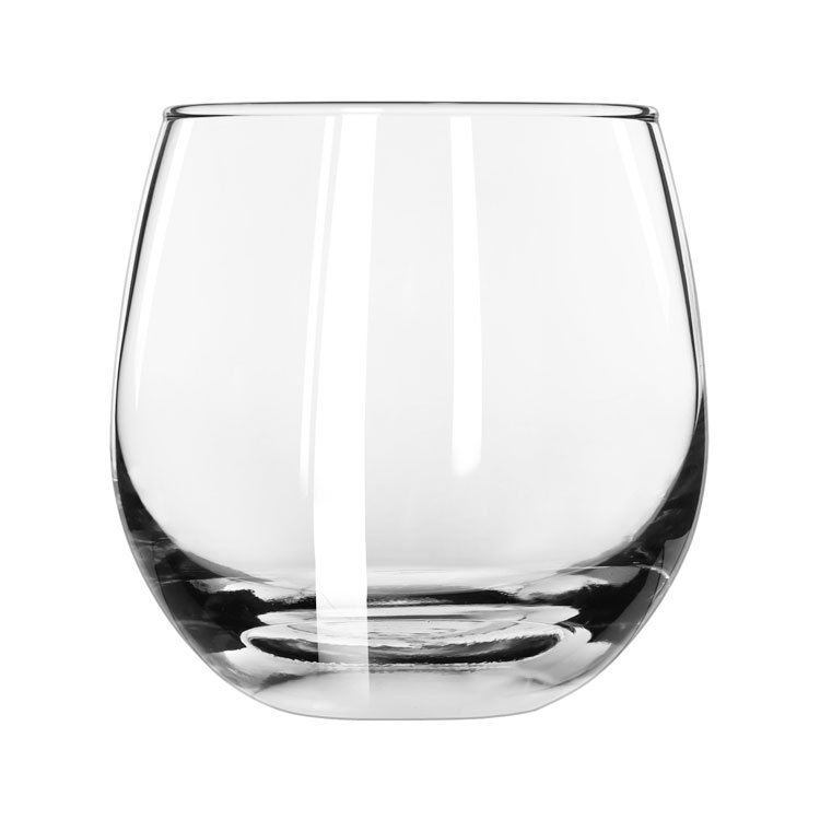 Libbey Glass 238 15-oz Safedge Rocks Glass - Rim Guarantee, Clear