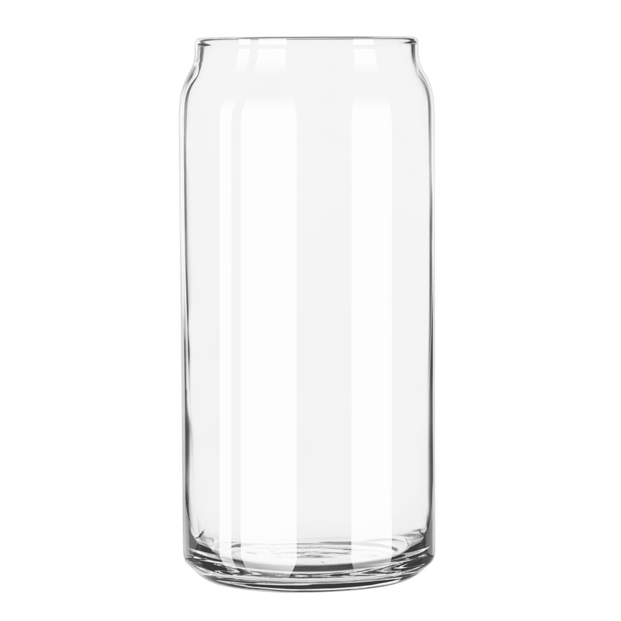Libbey 266 20-oz Beer Can Glass, Clear