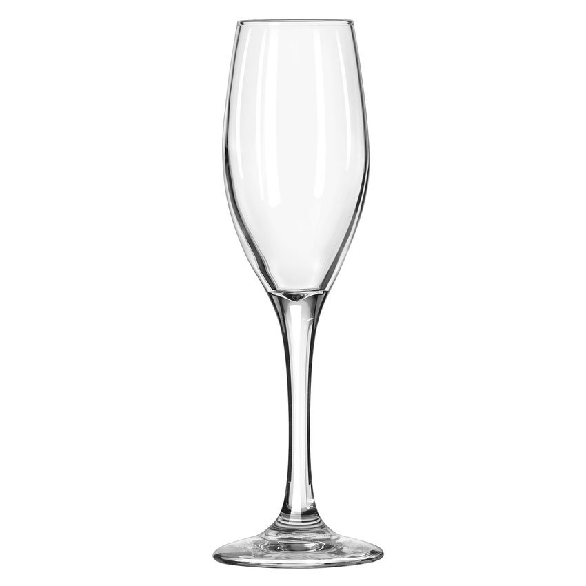 Libbey 3096 5.75-oz Perception One-Piece Flute Glass - Safedge Rim & Foot