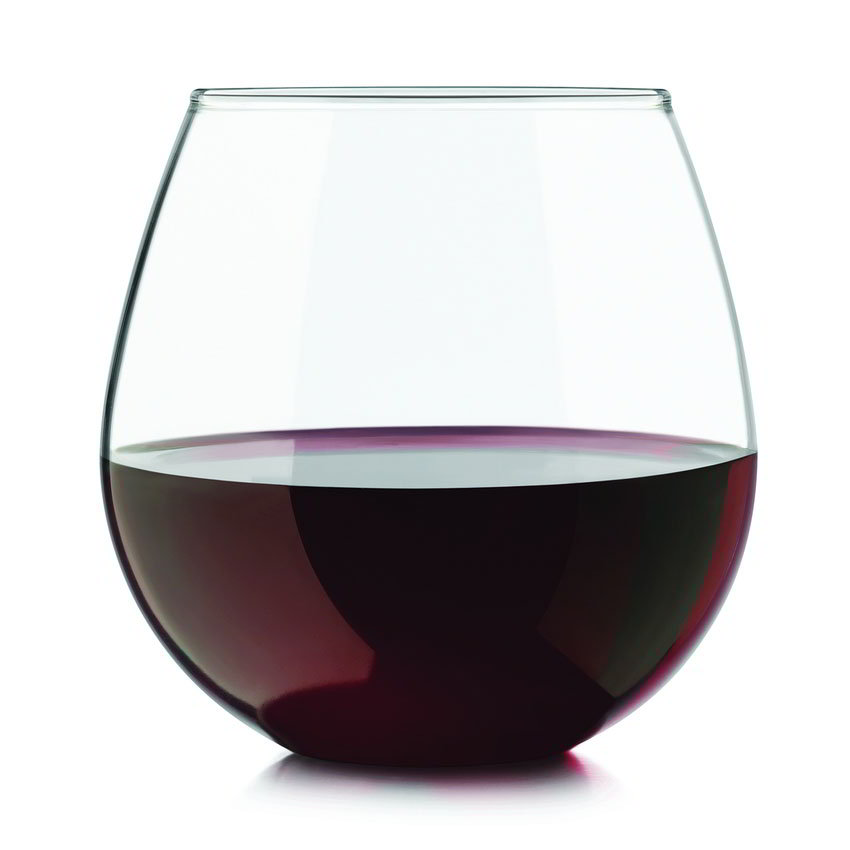 Libbey Glass 31229 Stemless Wine Set w/ 6-Red & 6-White Glasses