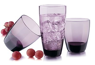 Libbey Glass 31698B7 Classic Grape Set w/ 8-Tumblers & 8- Coolers