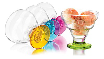 Libbey 3419S4/Y4436 Colors Dessert Set w/ 4-Bowls
