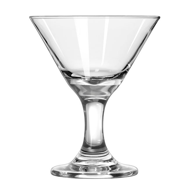 Libbey 3701 3-oz Embassy Mini Martini Glass Dessert - Safedge Rim & Foot