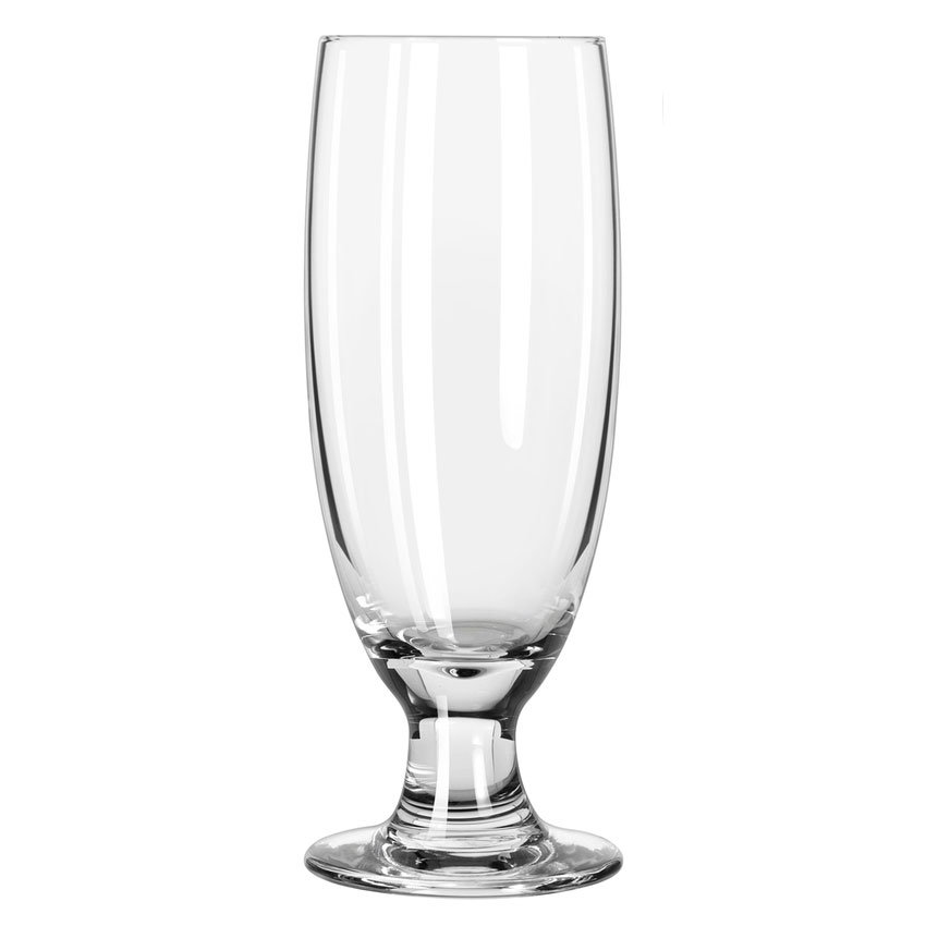Libbey 3725 12-oz Embassy Beer Pilsner Glass - Safedge Rim & Foot