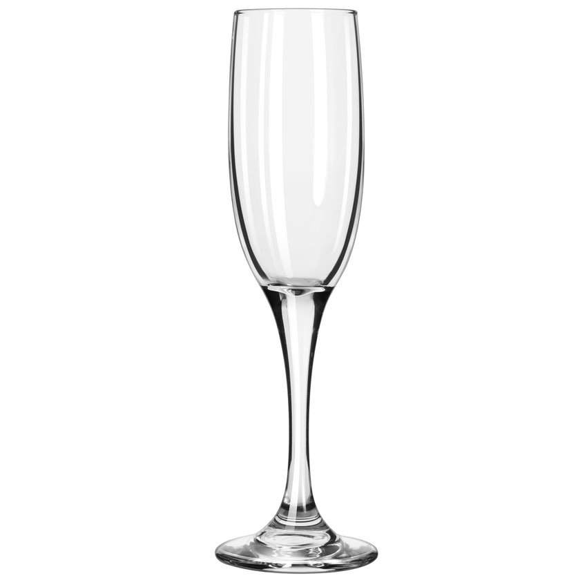 Libbey 3796/69292 6-oz Embassy Royale Tall Flute Glass - Nucleation Etching