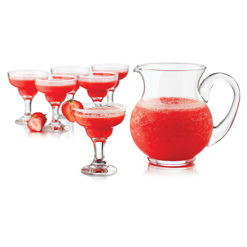 Libbey Glass 3802YS6 Just Cocktails Mini Margarita Set w/ 6-Glasses & Pitcher