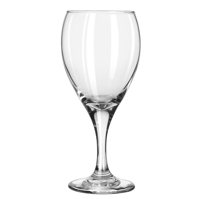 Libbey 3911 12-oz Teardrop Goblet Glass - Safedge Rim & Foot Guarantee