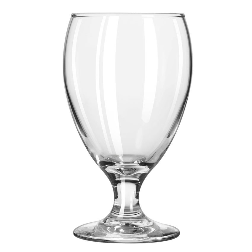 Libbey 3914 10.5-oz Teardrop Goblet Glass - Safedge Rim & Foot Guarantee
