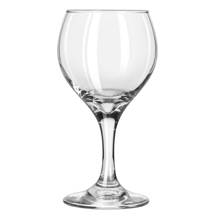 Libbey 3964 8.5-oz Teardrop Red Wine Glass - Safedge Rim & Foot Guarantee