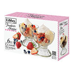 Libbey 5118S6 Fountain Shoppe Classic Sundae Set w/ (6) 18-oz Glasses