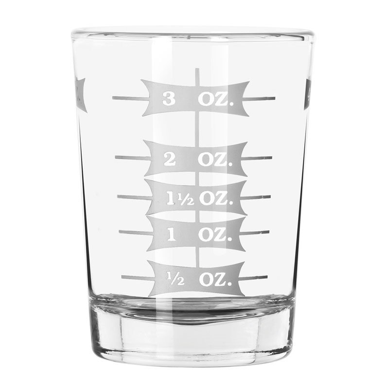 Libbey Glass 5134/1124N 4-oz Mixing Glass - Capacity Markings on Both Sides